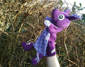 Purple pig puppet - single model