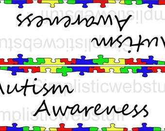 Autism Awareness Puzzle Piece Boarder Bag Topper Printable