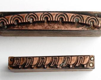 Tiny ART DECO Borders 1903-1953 Antique GERMAN Copper Letterpress Cut printing block Arc Arch Waves