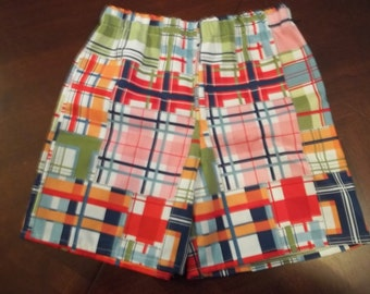 Madras Plaid - Toddler Boys or Girls - Sizes 12 months to 5T - Michael Miller Shore Thing