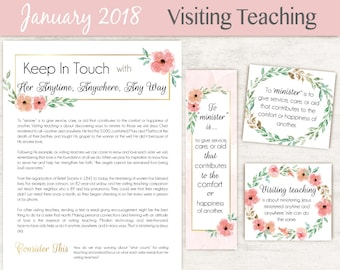 January 2018 Visiting Teaching Message, lds Printable, Quotes LDS, VT LDS handouts, Visiting Teaching, Relief Society