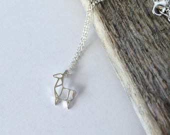 Silver Llama--Dainty Llama--Silver Llama-- Llama Necklace-- Llama Jewelry-- Llama Mama-- Mama Llama