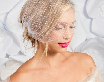 Double layer bandeau birdcage veil -ready to ship - FREE SHIPPING*
