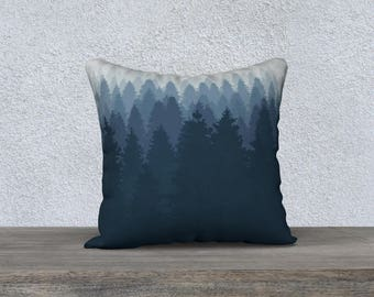 """Into the Forest 18""""x18"""" Pillow Case"""