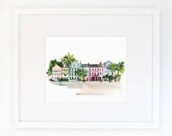 Charleston - Watercolor Art Print