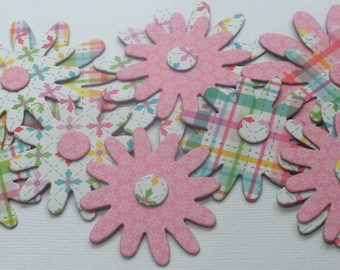 SPRING DELIGHTS - Floral Chipboard Die Cuts -  Doodlebug Flower Embellishments - 12 Pieces