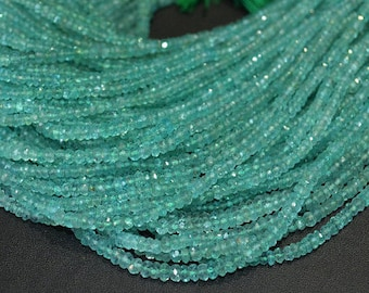 Natural Army Green Apatite Rondelle Faceted 3.5-4 mm