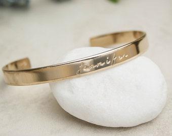 Custom Bracelet, Personalized Gold Bracelet, Birthday Gift, Girlfriend Gift, Wife Gift, Valentine's Day Gift, Customized Bracelet Quote