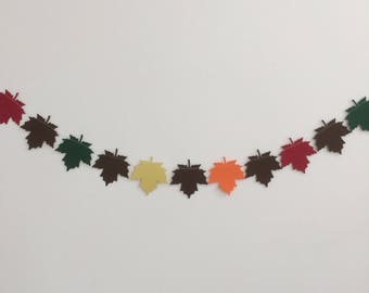 Autumn leaf garland, Decoration, Party Decor,