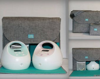 Alana style Spectra Breast Pump Bag in PP Jackson Lt gray