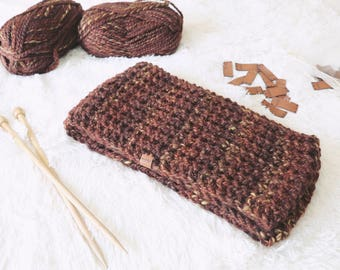 Chunky Knit Infinty Scarf // Warm Winter Scarf // Knitted Accessories // Gifts for Men // Gifts for Women // KHAI in Sequoia
