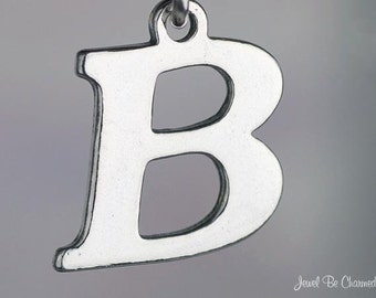 Sterling Silver Letter B Charm Initial or for Hand Stamping Solid .925