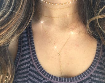 2 Chain Choker// Double Layered Dainty Chain Choker// Light Catching Versatile Layering 14k Gold Filled, Rose Gold Filled or Sterling Silver