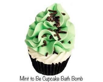 Cupcake Bath Bomb- Skinny Mint