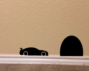 Race Car in Tunnel Decal