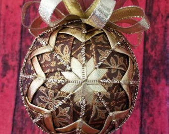 Brown and Gold Christmas Ornament - Christmas Ornament - Unbreakable Christmas Ornament - Christmas decoration - Gifts for under 15