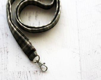 gift idea for husband  - Men's lanyard - key lanyard - badge holder lanyard - ID lanyard - teachers lanyard - under 15 gift for him - khaki