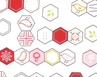 Sew Stitchy Hexagons by Aneela Hoey for Moda - 1 yard