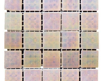 Pink Champagne Iridescent Glass Tiles 9/16""
