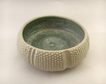 Sea Urchin Bowl with Celadon/Foam inside