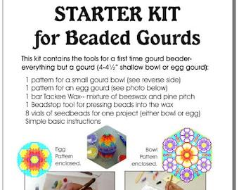 Starter Kit (Set A) for Beaded Gourds, Bowls or Eggs
