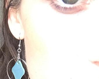 Hoop Faux Sea Glass earrings
