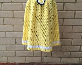 Flower Dress - Girls Crochet Dress - Age 2 years - Girls Party Dress