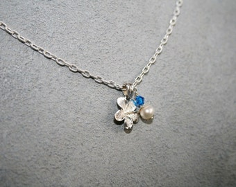 PLOOM Pearl, Crystal, and Sterling Silver Necklace SOLD