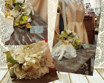 Custom brooch Bridal Bouquet