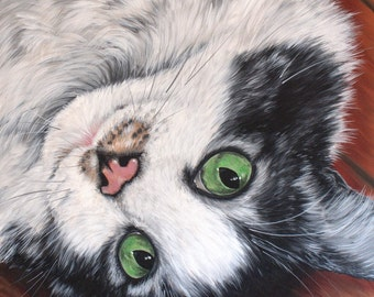 Custom Pet Portaits on canvas painting of your pet