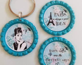 Breakfast at Tiffanys magnets and keychain