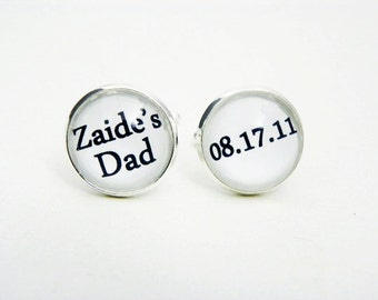 Personalized Cufflinks, Dad Cufflinks, First Time Fathers Day Gift From Kids, Best Father's Day Gift Idea, Custom Cufflinks for Him, For Dad