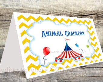 Instant Download CIRCUS and CARNIVAL Tent Cards - Food Cards - Dessert Cards - You Print