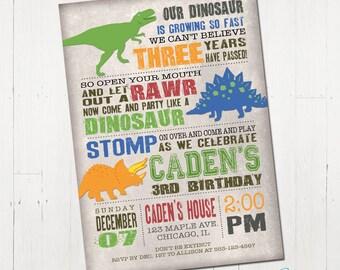 Dinosaur Birthday Invitation, Dinosaur Invitation, Dinosaur Printable Invitation, Dinosaur Invite, Dinosaur Party, Printable Invitation