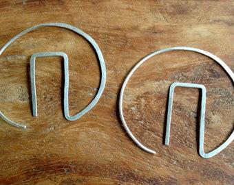 Geometric Silver Hoops