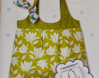 Pinafore Bag Sewing Pattern by Me and My Sister Designs UNCUT Purse Tote Bag Hand Bag New UNCUT