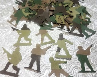 Camouflage Camo Army military soldier confetti die cuts graduation boot camp birthday party favor wedding cake table decoration