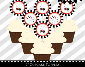 Magic Party Cupcake Toppers, INSTANT DOWNLOAD