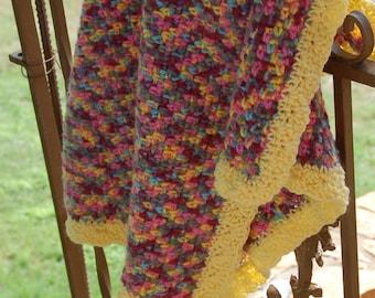Pink Pixels Crocheted Baby Blanket
