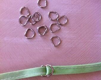 D hangers set of 24 half moon metal