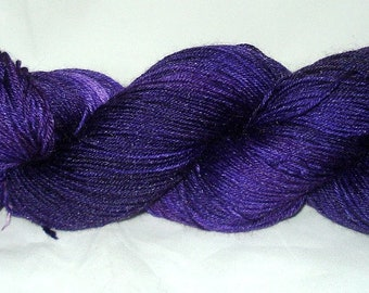 Royal Purple Tonal Umpqua Hand Dyed Fingering Weight Sock Yarn 4 oz  433 yards