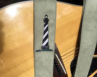 Lighthouse Guitar or Banjo Strap by Martha Crow