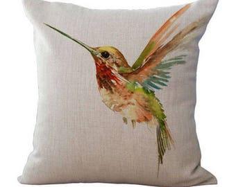 Painting Hummingbird Bird Pillow Case