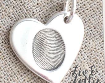 Silver Fingerprint Jewellery