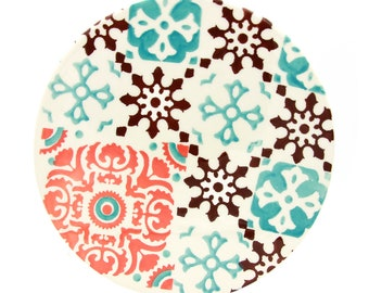 Hand-painted Portuguese Ceramic Multi-Use Trivet Tile