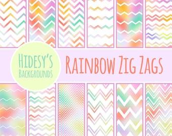 Rainbow Zig Zags