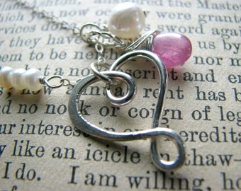 Small Infinity Heart & Birthstone Necklace - Christmas Gift Best Friend Mother Sisters Cousins Mom Wife Girlfriend