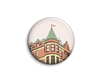 The Royal Tenenbaums Pin - The Tenenbaum House Illustrated Button