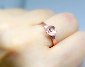 Initial ring, Arthritis ring, Personalised copper ring, Boho rings, Copper jewelry, Custom ring, Copper jewellery, Pure copper ring, Simple