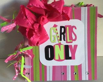 Girls Only 8 x 8 Chipboard Album
